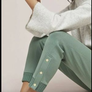 NEW Anthropologie Terry Joggers yoga pants Large
